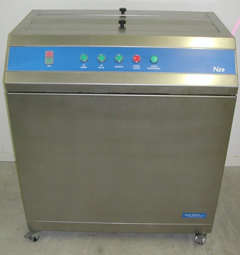 N29 Machine de nettoyage Applications sérigraphie